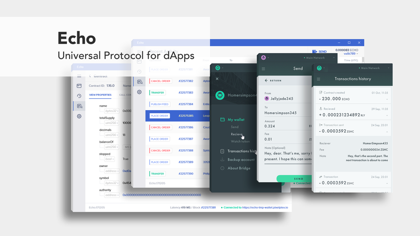 Echo - Universal Protocol for dApps