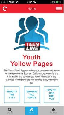 TEEN LINE Youth Yellow Pages