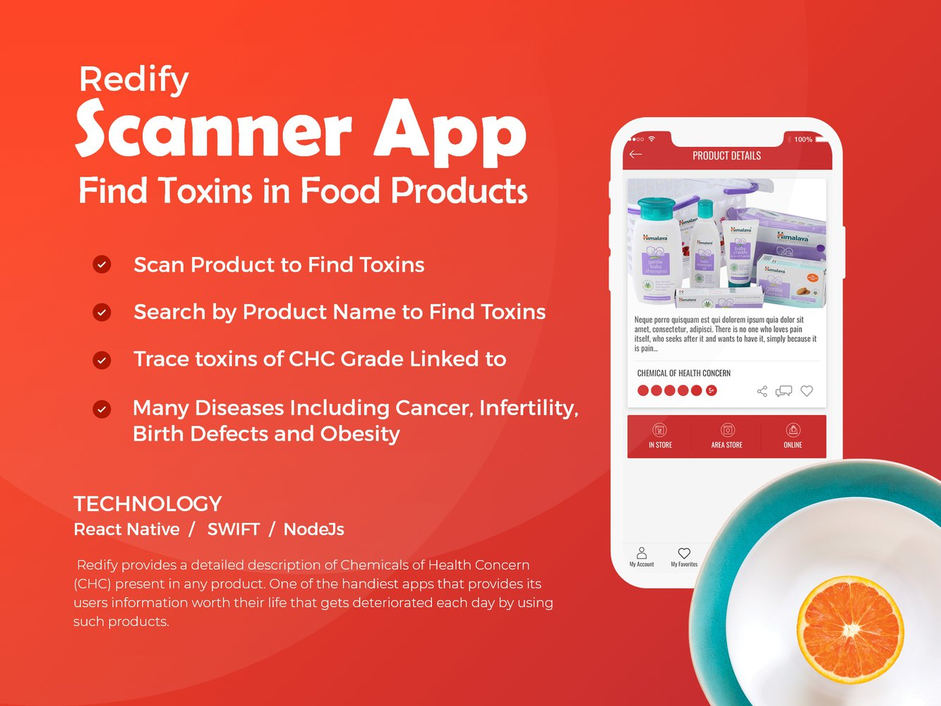 Scanner App to Find Toxic components in the consumer products