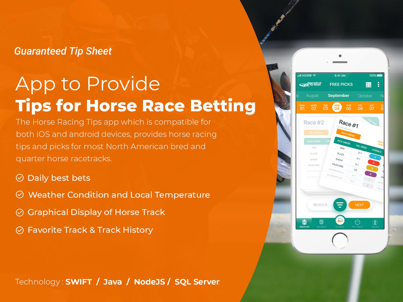 App to Provide Tips for Horse Race Betting
