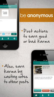 Karmasation—Anonymous Karma Tracking Community